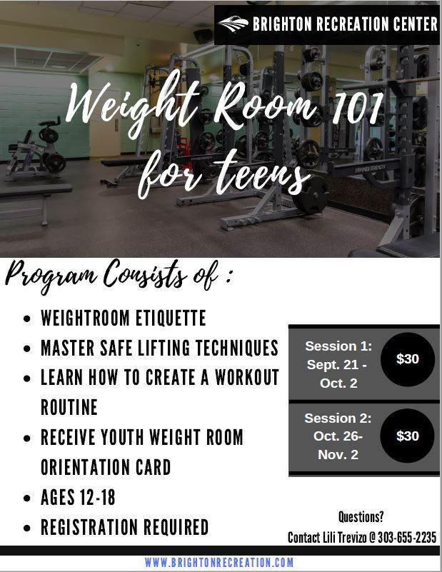 Weight room 101 corrected