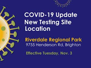 new covid test site - riverdale regional park