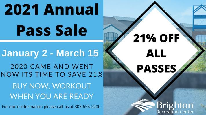 rec center pass sale