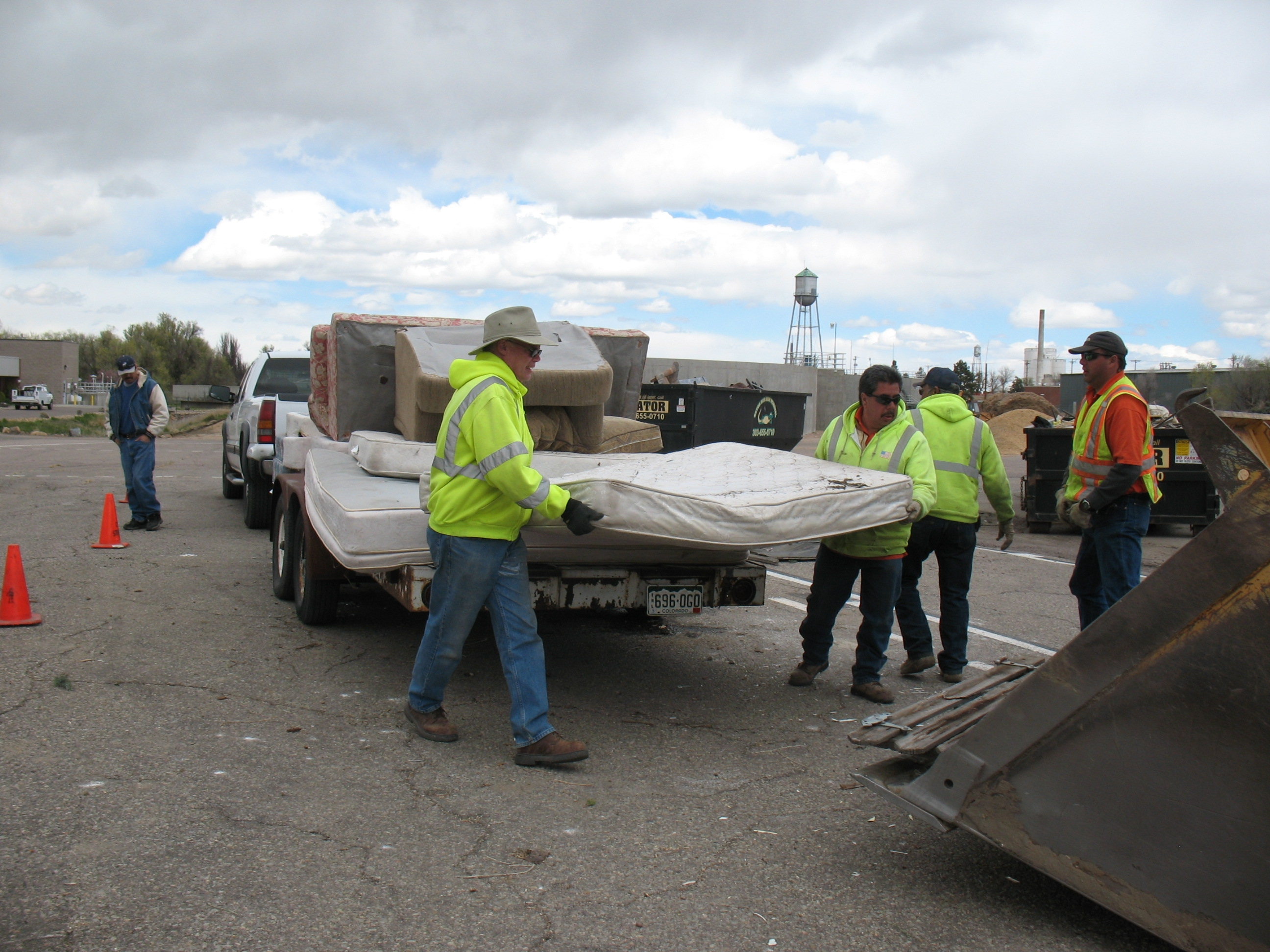 Unloading Truck at Trash Bash 2011