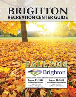 Brighton Recreation Center Fall 2014 Cover