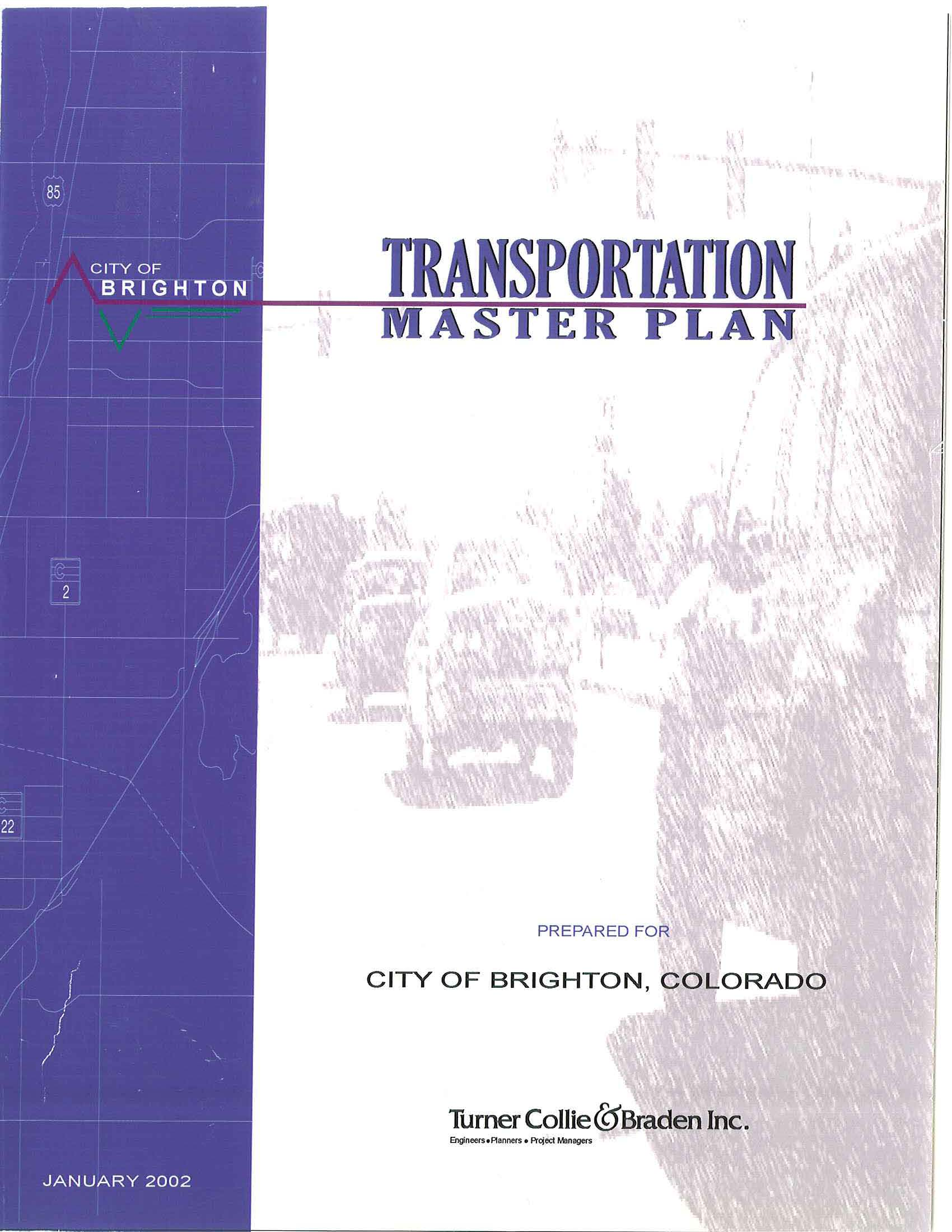 Cover Page - Transportation Master Plan
