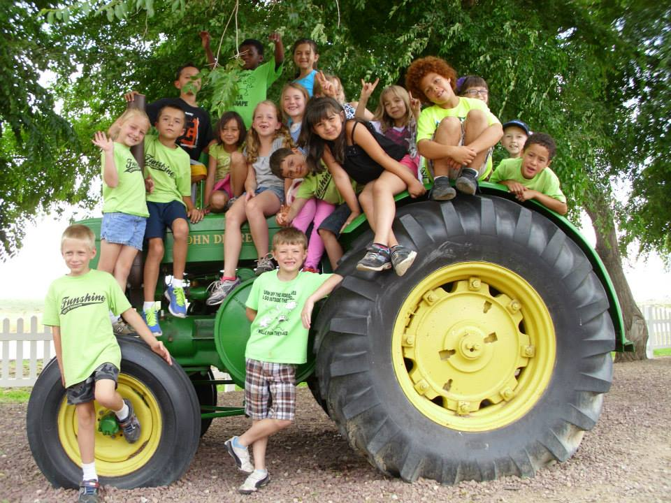 Funshine Kids on a Tractor