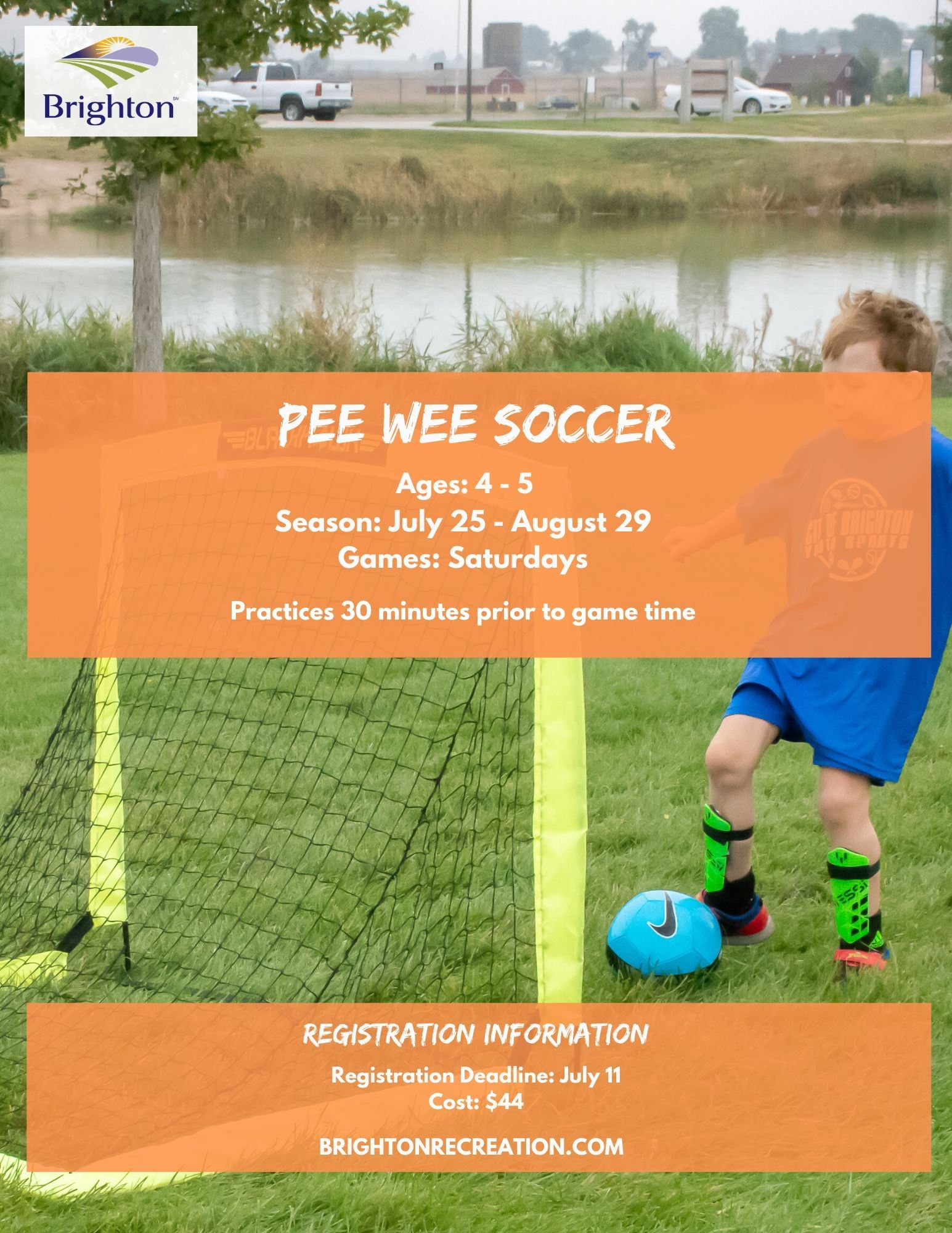 2020 Fall Pee Wee Soccer Flyer